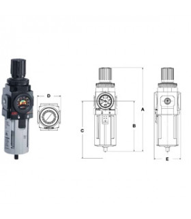 "Filterregulator 1/4"" Typ F+r 1330 Liter/min"