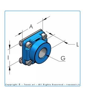 """Hbs Anslutningsplatta I60 Inv G1/2""""bsp"""