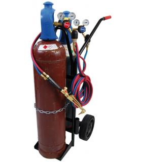 Gassvetskärra 20l Whc11 Kompl Med Regulatorer och 10m Slang