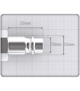 Nippel 10mm Slang. Euro-profil Härdat Stål Jwl
