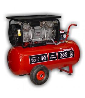Kompressor Oljefri 360l/min 10bar 90l/tank 2,5hk