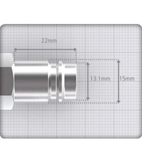 Nippel 13mm Slang. Euro Xl Härdat Stål Jwl