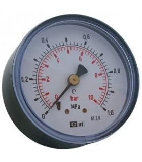 """Manometer 1/4"""" 10 Bar 63mm Bak"""