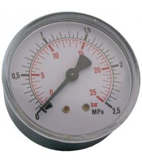 """Manometer 1/4"""" 25 Bar 63mm Bak"""