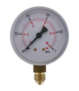 """Manometer 1/4"""" 10 Bar 63mm Ner"""