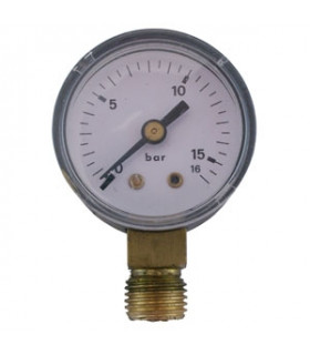 """Manometer 1/4"""" 16 Bar 40mm Ner"""