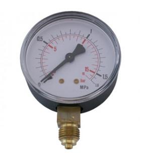 """Manometer 1/4"""" 16 Bar 63mm Ner"""