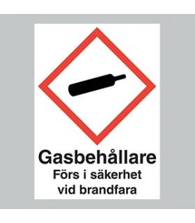 Gasskylt Självhäftande A5...