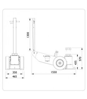Lufthydraulisk Domkraft 100-il