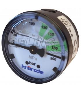 Manometer 0-250bar 40mm...