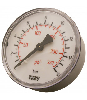 """Manometer 1/4"""" 16 Bar 63mm..."""