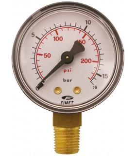 """Manometer 1/4"""" 16 Bar 50mm Ner"""