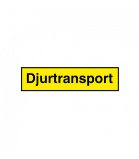 Djurtransport Skylt...