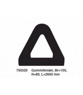 Gummifender 105x85 Mm L 2,6 M