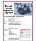 Högtrycksaggregat som drivs av diesel